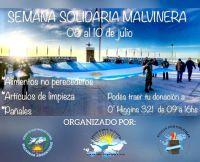 Impulsan 'Semana Solidaria Malvinera 2020'