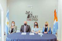 Firmaron un convenio de colaboración con el CPAU