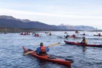 Kayakistas de Argentina y Chile unidos en el Canal Beagle