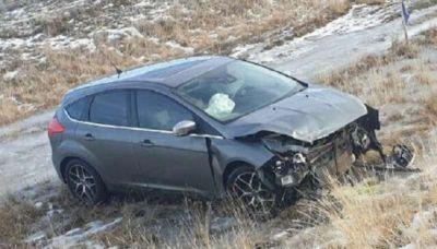 Un conductor se despistó en la zona de Puente Justicia